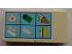 Part No: BA013pb04  Name: Stickered Assembly 4 x 2 with Six Ice Creams Pattern (Sticker) - Set 6414 - 2 Tile 2 x 2