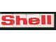 Part No: BA018pb01  Name: Stickered Assembly 2 x 8 with Shell Logo Pattern (Sticker) - Set 6378 - 4 Tiles 2 x 2