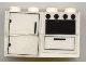 Part No: BA023pb01  Name: Stickered Assembly 4 x 2 x 2 with Refrigerator and Oven Pattern (Sticker) - Sets 6372 / 6374 - 2 Bricks 2 x 4