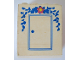 Part No: BA024pb02  Name: Stickered Assembly 4 x 2 x 4 with Door with Flower Above Pattern (Sticker) - Set 270-2 - 4 Bricks 2 x 4