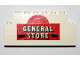 Part No: BA026pb01  Name: Stickered Assembly 8 x 1 x 3 with 'GENERAL STORE' Pattern (Sticker) - Set 365 - 2 Bricks 1 x 8, 1 Brick 1 x 6