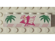 Part No: BA036pb01  Name: Stickered Assembly 6 x 1 x 1 1/3 with Palm Leaves, Ice Cream Cup and Drink Pattern (Sticker) - Set 6402 - 1 Brick 1 x 6, 1 Pink Plate 1 x 6