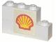 Part No: BA041pb01  Name: Stickered Assembly 4 x 1 x 2 with Shell Logo Pattern (Sticker) - Set 377-1 - 1 Brick 1 x 3, 1 Brick 1 x 4