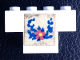 Part No: BA045pb02  Name: Stickered Assembly 4 x 1 x 2 with Flower and Blue Leaves Pattern (Sticker) - Set 270-2 - 1 Brick 1 x 4, 1 Brick 1 x 2