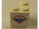 Part No: BA046pb01L  Name: Stickered Assembly 2 x 2 x 2 with Coast Guard Logo Pattern Model Left Side (Sticker) - Set 7726 - 2 Bricks 2 x 2 Corner