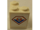 Part No: BA046pb01R  Name: Stickered Assembly 2 x 2 x 2 with Coast Guard Logo Pattern Model Right Side (Sticker) - Set 7726 - 2 Brick 2 x 2 Corner