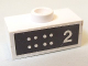 Part No: BA049pb02  Name: Stickered Assembly 2 x 1 x 2/3 with 8 White Dots and Number 2 Pattern (Sticker) - Set 6371 - 1 Plate 1 x 2, 1 Plate Modified 1 x 2 with 1 Stud