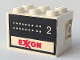 Part No: BA082pb02  Name: Stickered Assembly 3 x 2 x 1 2/3 with Exxon Tank Number 2 on Both Sides Pattern (Stickers) - Set 6375-2