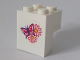 Part No: BA087pb01  Name: Stickered Assembly 2 x 2 x 2 with Butterfly and Two Flowers Pattern (Sticker) - Set 6410 - 1 Brick 1 x 2, 1 Brick 2 x 2