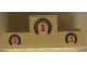 Part No: BA088pb01  Name: Stickered Assembly 6 x 2 x 2 Podium with 1-2-3 under Horseshoes Pattern (Sticker) - Set 6417 - 1 Brick 2 x 6, 1 Brick 2 x 2