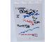 Part No: BA090pb03  Name: Stickered Assembly 4 x 1 x 5 with 'RACERS' Graffiti Pattern (Sticker) - Set 8681 - 2 Bricks 1 x 2 x 5
