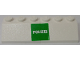 Part No: BA104pb02  Name: Stickered Assembly 2 x 6 x 1 with 'POLIZEI' on Green Background Pattern (Sticker) - Set 7245 - 2 Slopes 45 2 x 3