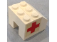 Part No: BA124pb01  Name: Stickered Assembly 3 x 3 x 2 with Red Cross Pattern on Both Sides (Stickers) - Set 626-2 - 3 Bricks 1 x 3, 1 Slope 45 2 x 3