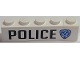 Part No: BA137pb01L  Name: Stickered Assembly 5 x 1 x 1 with 'POLICE' and Highway Patrol Logo Pattern Model Left Side (Sticker) - Set 8681 - 1 Brick 1 x 1, 1 Brick 1 x 4