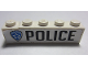 Part No: BA137pb01R  Name: Stickered Assembly 5 x 1 x 1 with 'POLICE' and Highway Patrol Logo Pattern Model Right Side (Sticker) - Set 8681 - 1 Brick 1 x 1, 1 Brick 1 x 4