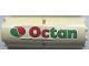 Part No: BA231pb01L  Name: Stickered Assembly 4 x 2 x 8 with Octan Logo Pattern Model Left Side (Sticker) - Set 6562 - 2 Cylinder Half 2 x 4 x 4