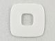 Part No: Clikits296  Name: Clikits Icon Accent, Rubber Square 3 x 3