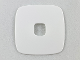Part No: Clikits297  Name: Clikits Icon Accent, Rubber Square 3 5/8 x 3 5/8