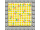 Part No: bb0063pb01  Name: Scala Cloth Blanket 7 x 7 with Yellow Check Stripes and Cherries Pattern