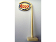 Part No: bb0071pb01  Name: Road Sign Cantilever Curved Rounded with 'Esso' Pattern (UK Version)
