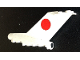 Part No: bb0096pb01  Name: Tail Vintage with Boeing 727 JAL Logo Pattern on Both Sides and Black Dot on Rear (Stickers)