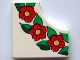 Part No: bb0165pb01  Name: Tile, Modified 2 x 2 without 1 x 1 Quarter Circle with Scala Flower Pattern