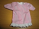 Part No: bb0245pb02  Name: Duplo Doll Cloth Nightdress with Pink Stripes Pattern with White Trim