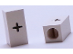 Part No: bb0695pb15  Name: Tile, Modified 1 x 2 x 5/6 with Stud Hole in End and Black '+' Plus Sign Pattern