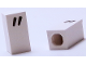 """Part No: bb0695pb16  Name: Tile, Modified 1 x 2 x 5/6 with Stud Hole in End and Black '""""' Quotation Mark Pattern"""