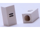 Part No: bb0695pb17  Name: Tile, Modified 1 x 2 x 5/6 with Stud Hole in End and Black '=' Equal Sign Pattern