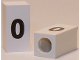 Part No: bb0695pb59  Name: Tile, Modified 1 x 2 x 5/6 with Stud Hole in End and Black 'o' Lower Case Pattern