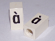 Part No: bb0695pb78  Name: Tile, Modified 1 x 2 x 5/6 with Stud Hole in End and Black 'à' Lower Case Pattern