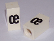 Part No: bb0695pb90  Name: Tile, Modified 1 x 2 x 5/6 with Stud Hole in End and Black 'œ' Lower Case Pattern