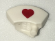 Part No: bb0753pb01  Name: Minifigure, Headgear Accessory Nurse Hat with Red Heart Pattern