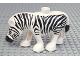 Part No: bb0794pb01  Name: Duplo Zebra, Smooth White Mane