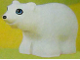 Part No: bb0822  Name: Duplo Bear Polar Cub, Round Eyes