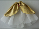 Part No: belvskirt24  Name: Belville, Clothes Skirt Long, Sheer with Golden Layer and Pink Jewel #5877