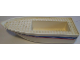 Part No: bfloat2c01pb03  Name: Boat, Hull Unitary 25 x 10 x 4 1/3 with Red and Blue Stripes and '4011' Pattern on Both Sides (Stickers) - Set 4011