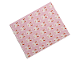 Part No: blankie03pb11  Name: Duplo Cloth Blanket 5 x 6 with Bunny / Rabbit on Bright Pink Background Pattern