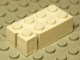 Part No: bslot04cR  Name: Brick 2 x 4 without Bottom Tubes, Slotted (with 2 slots, near corner right)