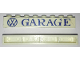 Part No: crssprt01pb02  Name: Brick 1 x 8 without Bottom Tubes with Cross Side Supports with Blue 'VW GARAGE' Pattern
