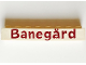 Part No: crssprt01pb21b  Name: Brick 1 x 8 without Bottom Tubes with Cross Side Supports with Red 'Banegård' Pattern ('Banegard')