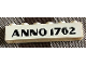 Part No: crssprt02pb08a  Name: Brick 1 x 6 without Bottom Tubes with Cross Side Supports with Broad Black 'ANNO 1762' Pattern