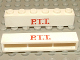 Part No: crssprt02pb30  Name: Brick 1 x 6 without Bottom Tubes with Cross Side Supports with Red 'P.T.T.' Thin Pattern