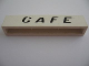 Part No: crssprt02pb36  Name: Brick 1 x 6 without Bottom Tubes with Cross Side Supports with Black 'Cafe' Italics Pattern