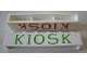 Part No: crssprt02pb42c  Name: Brick 1 x 6 without Bottom Tubes with Cross Side Supports with Green 'KIOSK' Serif Pattern