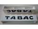 Part No: crssprt02pb49  Name: Brick 1 x 6 without Bottom Tubes with Cross Side Supports with Black 'TABAC' Pattern