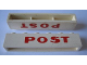 Part No: crssprt02pb76  Name: Brick 1 x 6 without Bottom Tubes with Cross Side Supports with Red 'POST' Pattern
