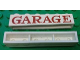 Part No: crssprt02pb86  Name: Brick 1 x 6 without Bottom Tubes with Cross Side Supports with Red 'GARAGE' Serif Pattern
