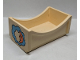 Part No: dupbedpb01  Name: Duplo Furniture Bed 2 x 4 with Moon and Cloud Pattern
